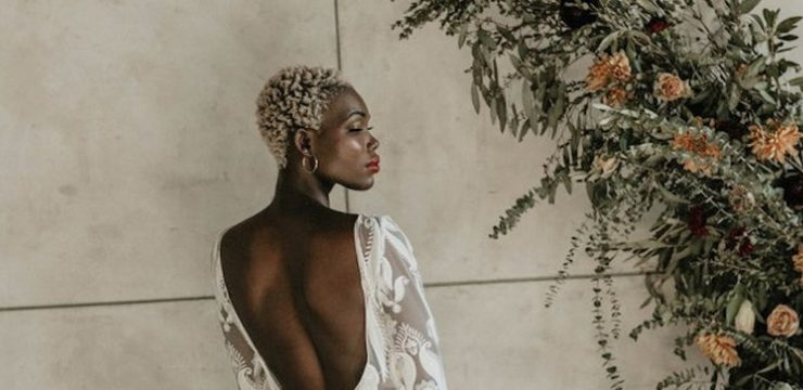 African short wedding hairstyle ideas